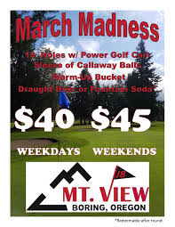 March Madness Flyer March Madness Mt View Mountain View