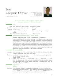 Example Cv Resume Resume Examples Example Of Resume Latex Resume