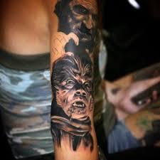 80 Vlkodlačí Tetování Vzory Pro Muže úplný Měsíc Folklór