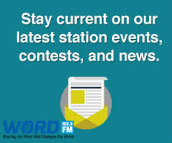Newsletter In Word Sign Up For Our Station Newsletters Word 101 5 Fm Pittsburgh Pa
