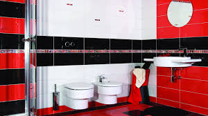 red bathroom color ideas. Uncategorized : Red And White Tiles For Bathroom Within Elegant Other Kitchen Design Ideas Black Color With