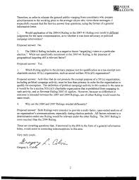 Colvin Letter To Irs Requests Answers On Criteria For Nonprofit