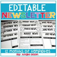 February Newsletter Template Editable Monthly Newsletter Templates