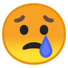 Smiley Emoticon Emoji Crying Sad Face Emoji Png Download