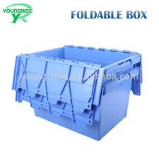 large plastic totes.  Plastic 60L Large Nesting Plastic Tote Storage Containers With Lid On Large Plastic Totes T
