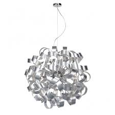 rawley 12 light aluminium ribbon ceiling pendant