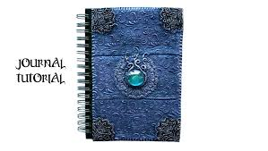polymer clay notebook cover purple blue easy ornate design tutorial diy journal book cover you