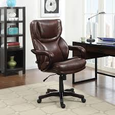 serta eco friendly bonded leather executive big tall office chair dark redwood hayneedle