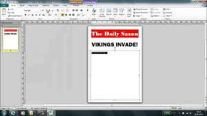 How To Make A Newspaper Template On Microsoft Word Setting Up Newspaper In Publisher