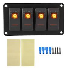 Why Do Led Lights Trip Breaker Amazon Com Akozon 4 Gang Panel Circuit Breaker With Orange