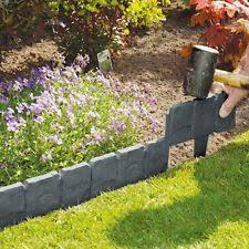 garden edging stone. 20X Plastic Cobbled Stone Effect Garden Edging Hammer-in Lawn Plant N