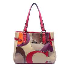 coach legacy in signature medium khaki shoulder bags abc  coach big logo  large red ivory totes dxs