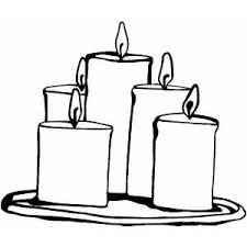 Small Picture Candle Group Coloring Page