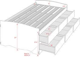 Twin Size Headboard Dimensions Augusta Tall Storage Platform Bed With Headboard Ltdonlinestorescom