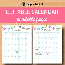 Birthday Planner Template Awesome Printable Calendar 48 Calendar Printable Calendars 48 Etsy