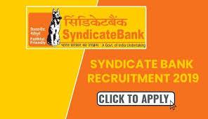 Syndicate Bank Syndicate Bank Recruitment 2019 New Job Notification