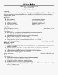 28 Warehouse Associate Resume New Best Resume Templates