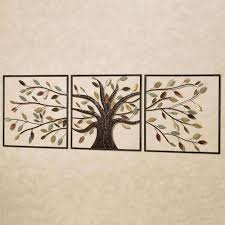 set of three wall art fresh ever changing brown tree metal wall art set