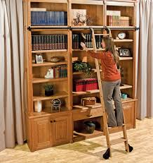 Bookshelf, Terrific Library Ladder Ikea Library Ladder For Sale Craigslist  Brown Library Ladder With Books ...