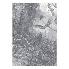 Tropical Landscapes Zwart Wit Vliesbehang 1948x280cm 4 Sheets
