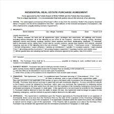Real Estate Purchase Sale Agreement Template Property House Contract ...