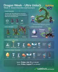 Dragon Week - Week 1 Ultra Unlock - Leek Duck | Pokémon GO News and  Resources