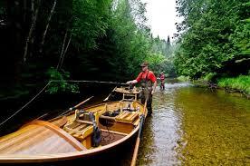 wooden drift boat for flyfishing