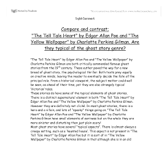compare and contrast the tell tale heart by edgar allan poe and  document image preview