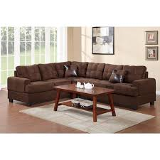 inspired kitchen cdab white brown: zenica microfiber  piece sectional sofa