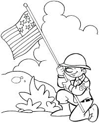 Coloring Veterans Day Pages Printable Color Related Remembrance