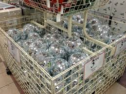 Disco Ball Decorations Cheap Large disco balls Bin of cheap mirror balls at The Christmas Tree 2