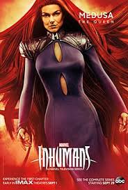 character poster of serinda swan as medusa for the television series inhumans