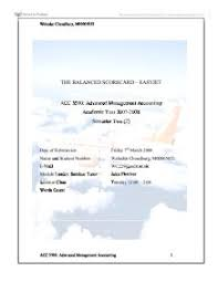 the balanced scorecard easyjet university business and  page 1 zoom in