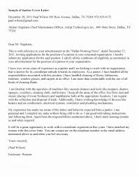Janitorial Cover Letter Gorgeous Janitor Cover Letter Best Maintenance Janitorial Cover Letter