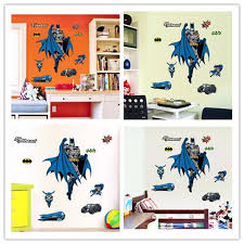 cool wall stickers home office wall. Carton Stickers Batman Colored Logo Character Vehicle Truck Wall Superhero Printing Decoration Cool Home Office