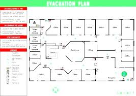 Evacuation Plan Sample Emergency Exit Floor Plan Template Feat Fire Evacuation To