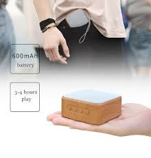 <b>Wood Grain Portable</b> Wireless Speaker Vintage With Mic Support TF ...