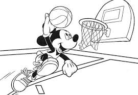 Small Picture Mickey Mouse Basketball Coloring Pages Sport Coloring pages of