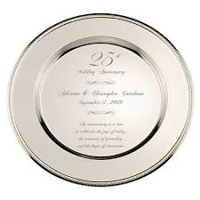 very special personalized 25th wedding anniversary silver plate wedding anniversary wedding anniversary gifts 25th anniversary gifts anniversary gifts