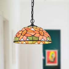 tiffany style large stained glass pendant lights