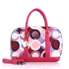 Coach Poppy Logo Style Medium Fuchsia Satchels EUO