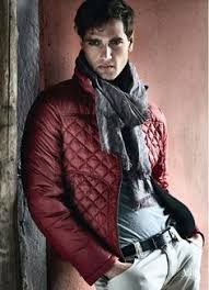 40 Simple and Definitive Winter Jackets For Men | The o'jays ... & Red Quilted Jacket, Fabio Mancini and Tomas Skoloudik for Armani Jeans.  Men's Fall winter Adamdwight.com