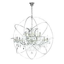 orb chandelier with crystals nickel orb chandelier crystal orb chandelier light iron crystal orb chandelier orb