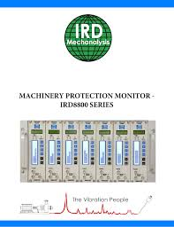 Ird Mechanalysis Vibration Chart Machinery Protection Monitor Ird8800 Series Manualzz Com