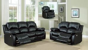 Reclining Living Room Furniture Sets Homelegance Cranley Power Reclining Sofa Set Black 9700blk Power