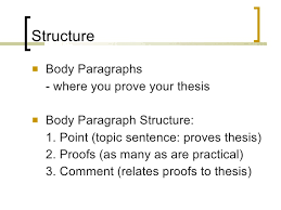 essay writing structure <ul><li>body paragraphs