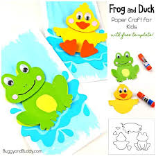 Frog Craft And Duck Craft For Kids With Template Buggy And Buddy