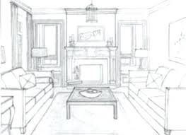 1 Point Perspective Drawing Living Room Ayathebook Com
