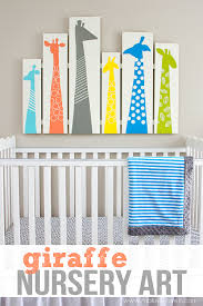 giraffe nursery art on diy baby boy wall art with 40 sweet and fun diy nursery decor design ideas