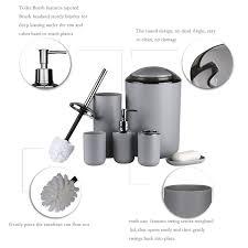 Badezimmer Zubehör Setsiamuq 6 Teiliges Badezimmer Kunststoff Sets